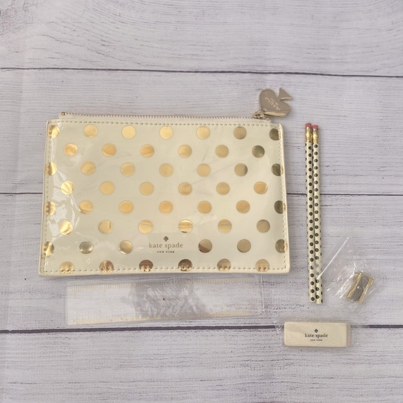 Kate Spade Pencil Case with Accessories